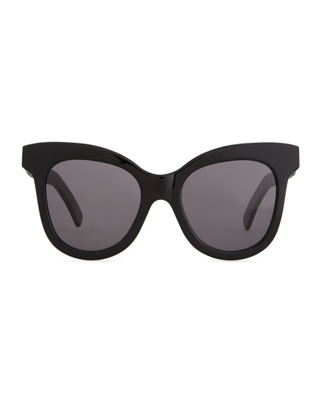 Holly Cat-Eye Sunglasses, Black