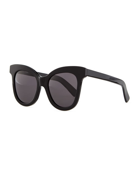 Illesteva Holly Cat-Eye Sunglasses, Black