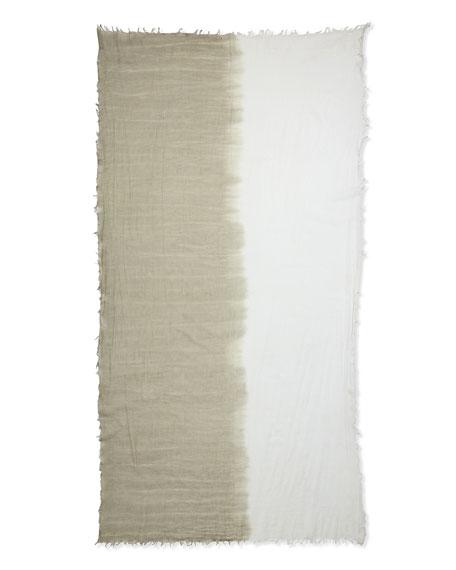 Boardwalk Ombre Wrap Scarf, White