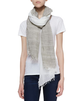 Michael Stars Boardwalk Ombre Wrap Scarf, White