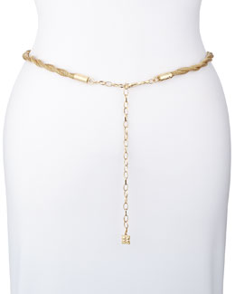 BCBGMAXAZRIA Golden Twisted Chain Belt