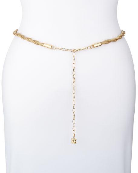 Golden Twisted Chain Belt