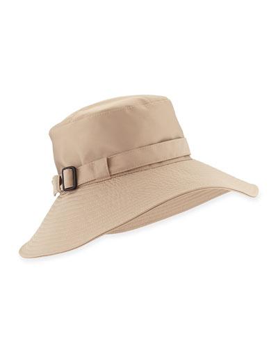 Eric Javits Kaya Water-Repellant Rain Hat, Taupe