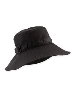 Eric Javits Kaya Water-Repellant Rain Hat, Black