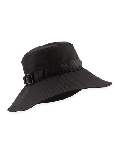 Eric Javits Kaya Water-Repellant Rain Hat, Black