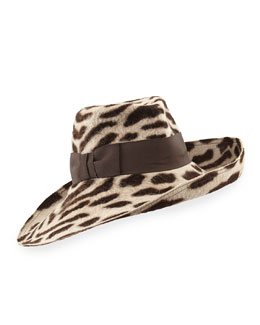 Eric Javits Candice Spotted Milled Rabbit Hat