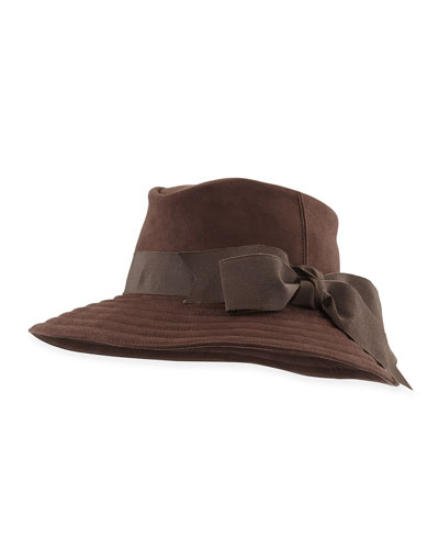 Eric Javits Trilby Microfiber Hat, Brown