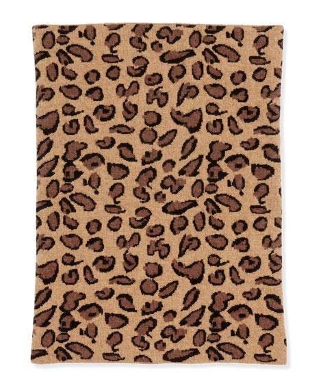 Leopard Patterned Funnel Scarf