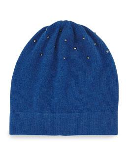 Studded Knit Hat, Blue