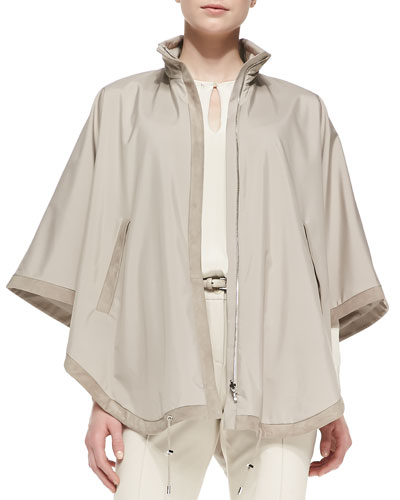 Vail Windstorm Reversible Cashmere Cape, Tan