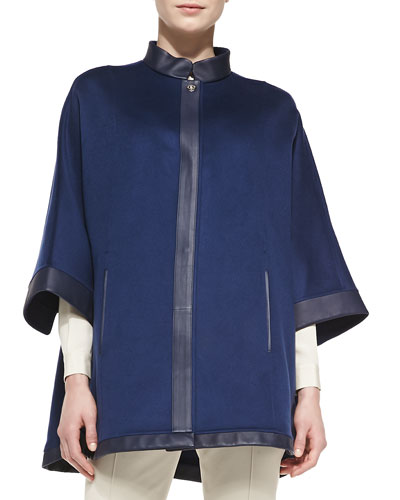 New Montpellier Cashmere Cape, Navy