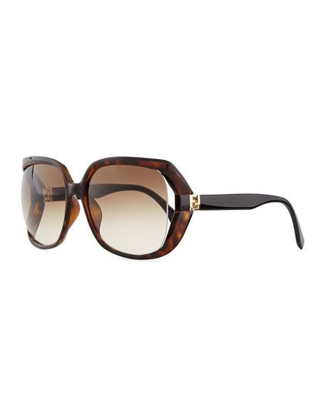 93b53aab3e82 Fendi Fendista-Temple Sunglasses, Brown