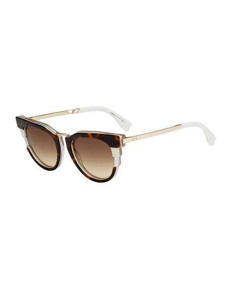 19f64d843d945 Fendi Colorblock Sunglasses