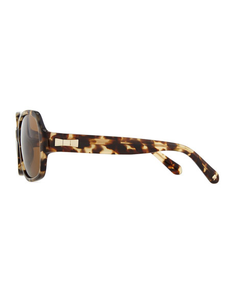 KATE SPADE LANEY POLARIZED TORTOISE SUNGLASSES, CAMEL