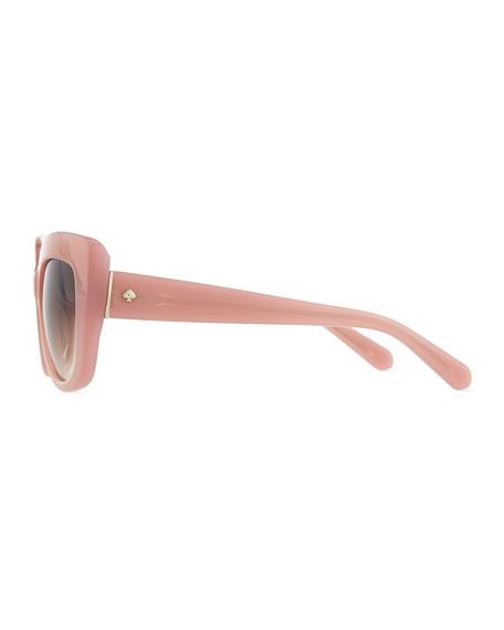 ursula cat-eye sunglasses, rose jade
