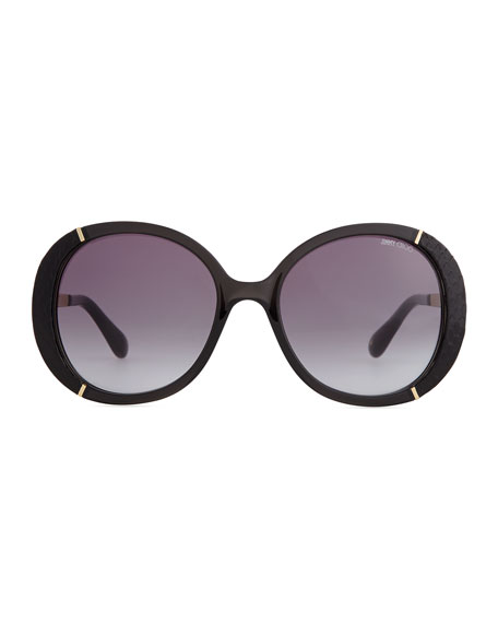 Bug Eye Sunglasses  jimmy choo millie bug eye sunglasses black