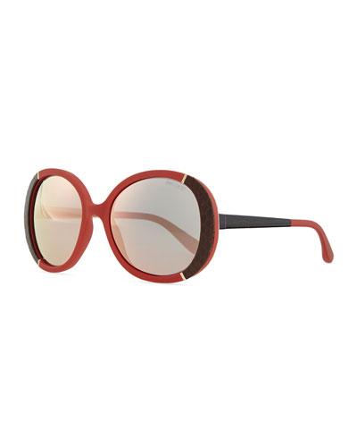 Millie Bug Eye Sunglasses, Burgundy