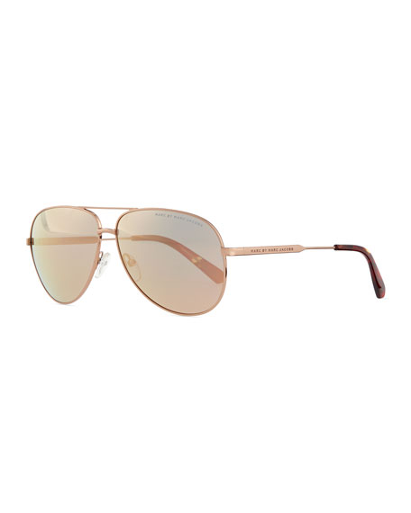 Marc Jacobs Aviator Sunglasses  marc by marc jacobs rose golden aviator sunglasses with mirror lens