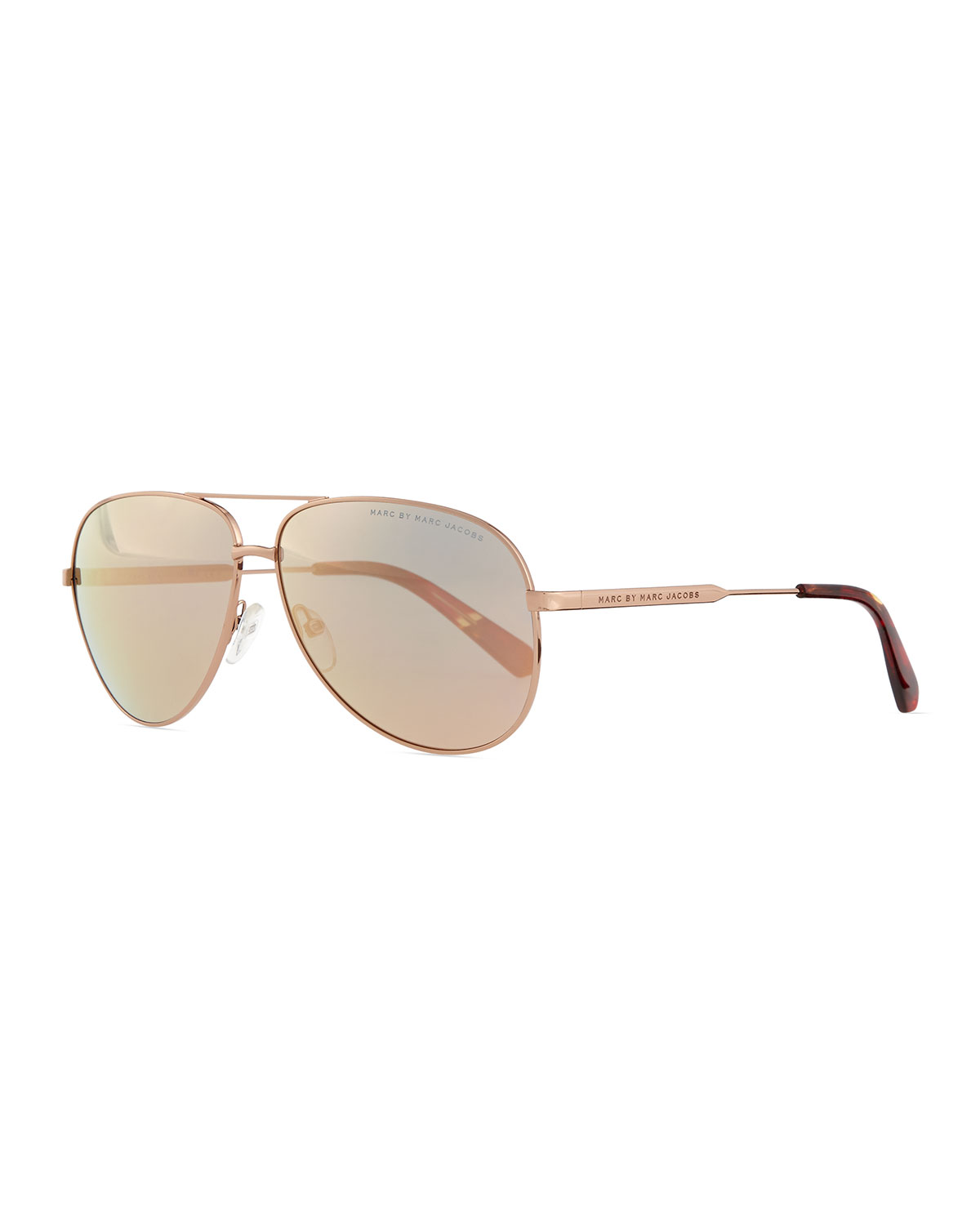 02d6eec39d MARC by Marc Jacobs Rose Golden Aviator Sunglasses with Mirror Lens ...