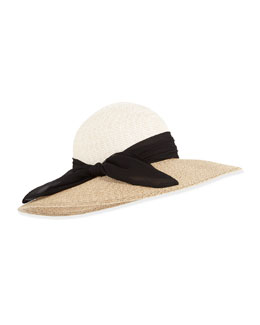 Honey Two-Tone Hat, Cream/Sand