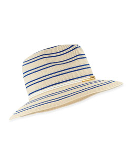 Courtney Striped Fedora Hat