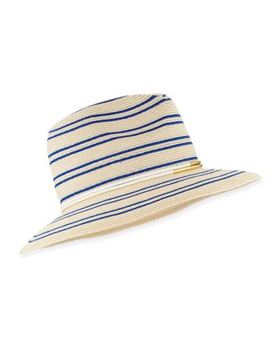 Courtney Striped Fedora Hat