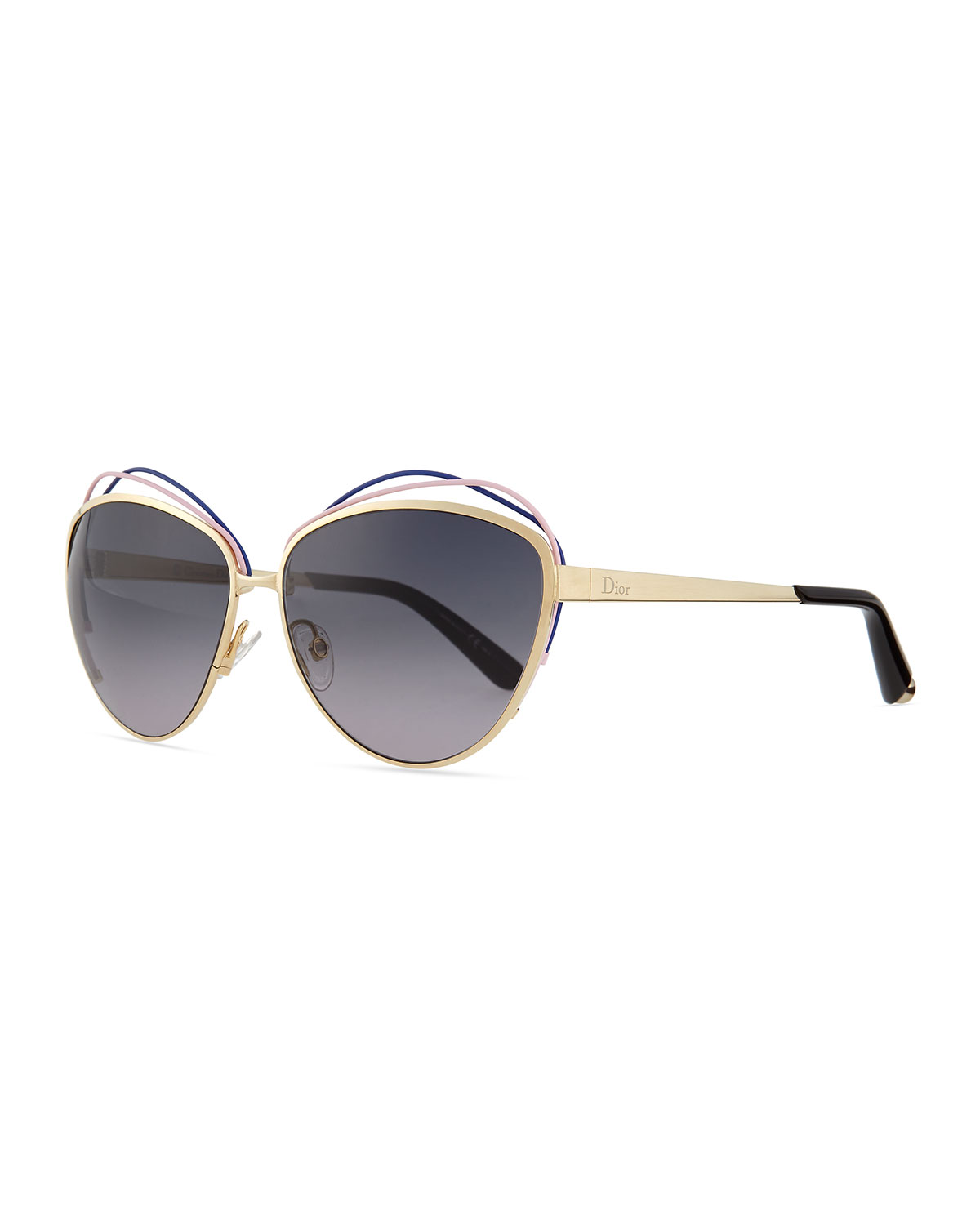 07ccddff3721 Dior Golden Metal Butterfly Sunglasses with Wire