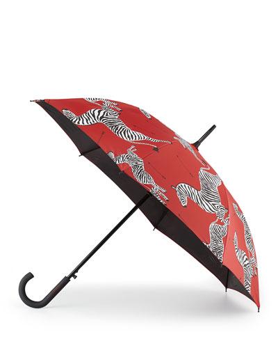 Zebra Crook Handle Umbrella