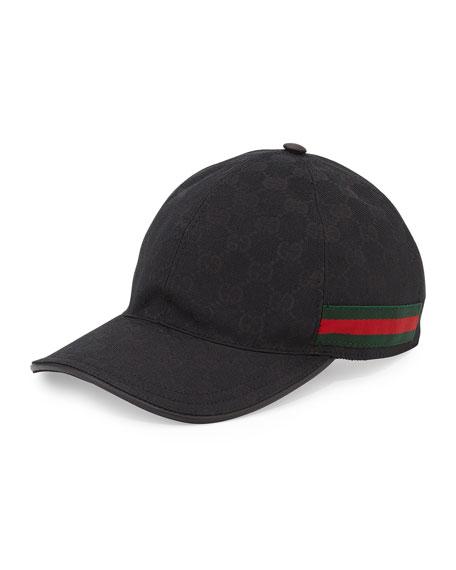 GG Canvas Baseball Hat, Nero