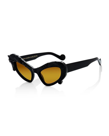 Anna-Karin KarlssonBlack Horse Sunglasses, Black