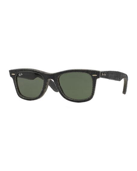 Black Denim Wayfarer Sunglasses