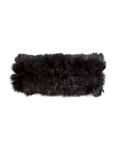 Hat Attack Rabbit Fur Headband, Black