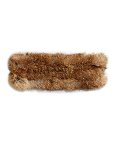 Hat Attack Rabbit Fur Headband, Natural