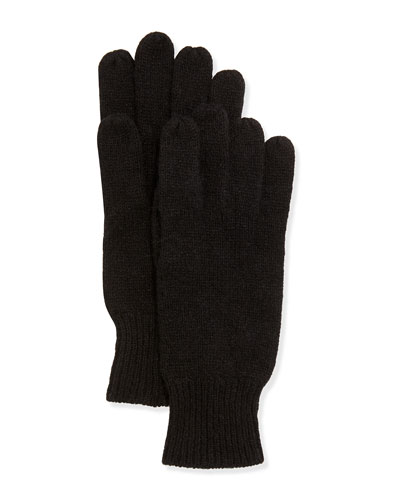 Hat Attack Cashmere-Blend Gloves, Black