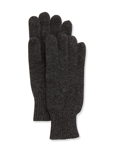 Hat Attack Cashmere-Blend Gloves, Charcoal