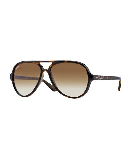 Plastic Aviator Sunglasses, Tortoise