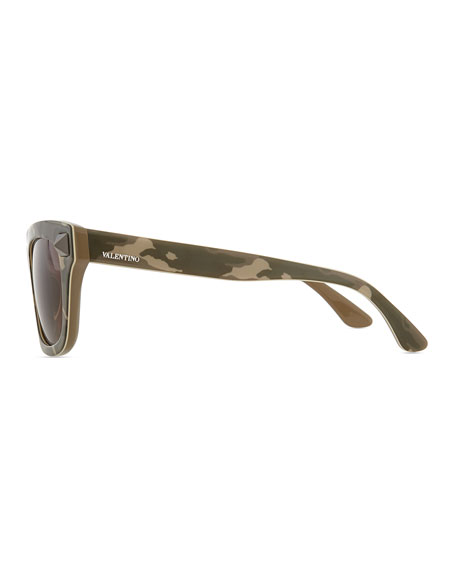 Camo-Print Sunglasses, Safari Green