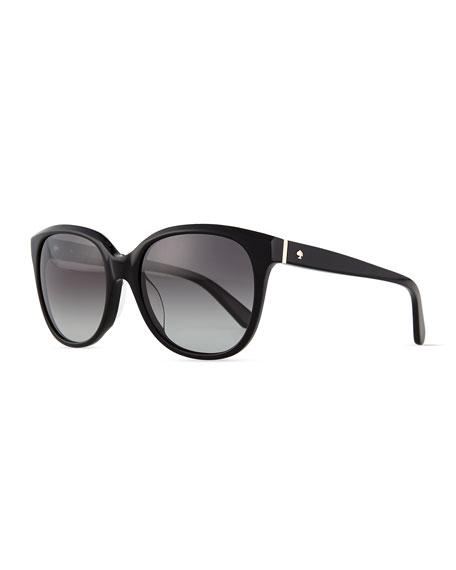 kate spade new york bayleigh butterfly sunglasses, black