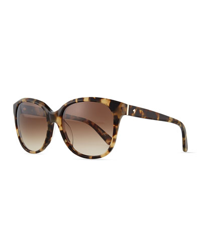bayleigh butterfly sunglasses, havana