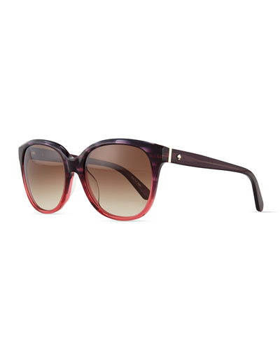 bayleigh butterfly sunglasses, rose/havana