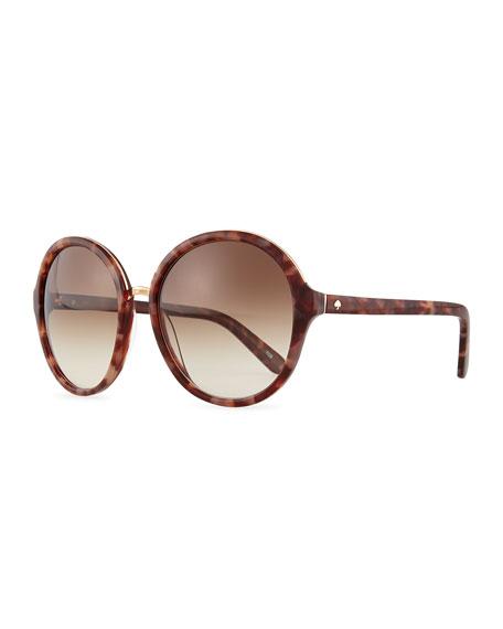 bernadette round sunglasses, havana