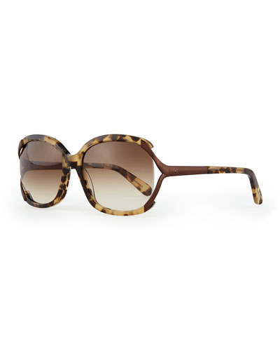 laurie butterfly sunglasses, havana tortoise