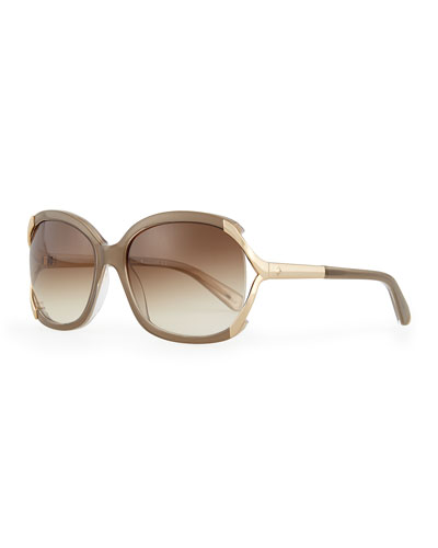 laurie butterfly sunglasses, pebble
