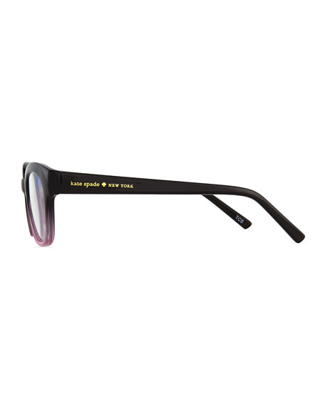 amilia rectangle readers, black/pink