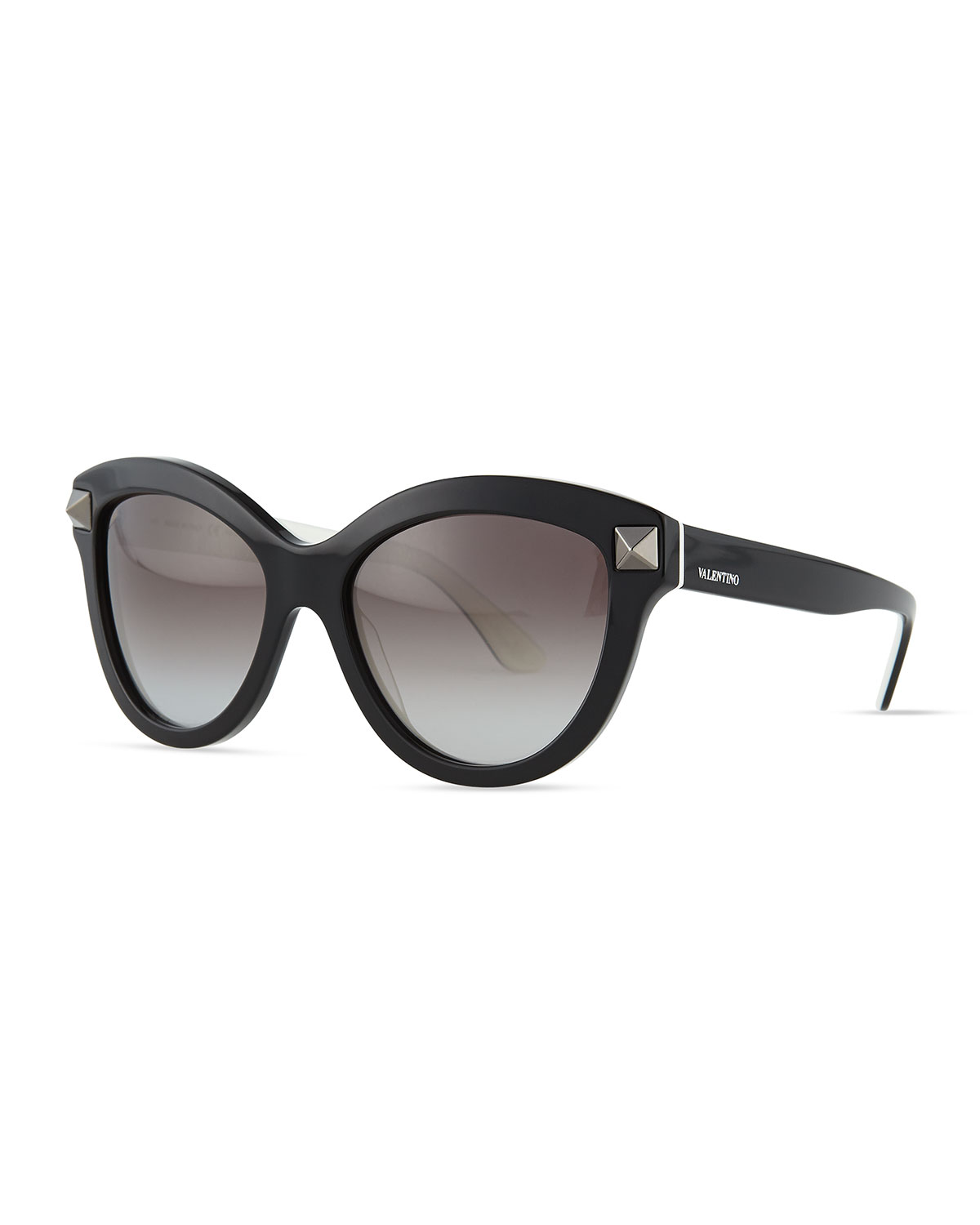 ae8fd302be2 Valentino Rockstud-Front Cat-Eye Sunglasses