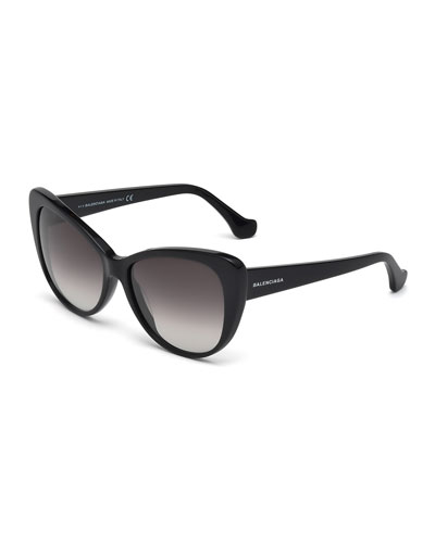 Ombre Cat-Eye Sunglasses, Black