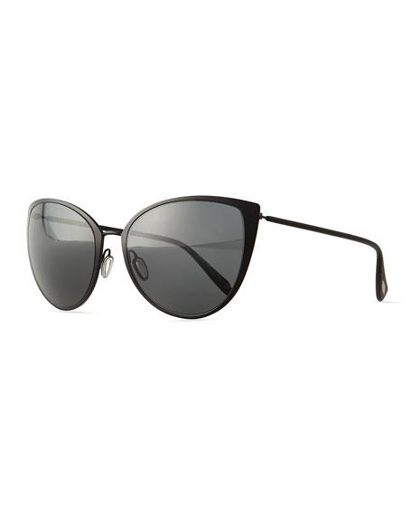 Oliver Peoples Jade Cat-Eye Sunglasses, Black