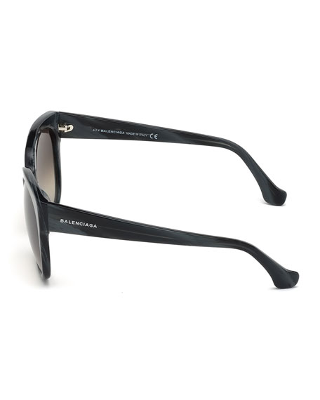 Butterfly Acetate Sunglasses, Black