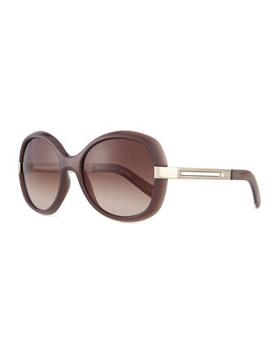 Bianca Oval Sunglasses, Turtle Dove