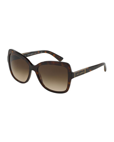 Acetate Butterfly Sunglasses, Brown